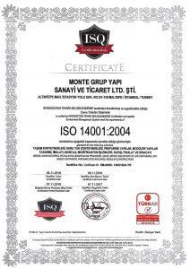 Monte Grup ISO14001-2004 Belgesi