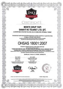 Monte Grup OHSAS 18001-2007 Belgesi